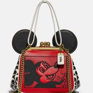 NWT Coach Mickey Mouse × Keith Haring Bag